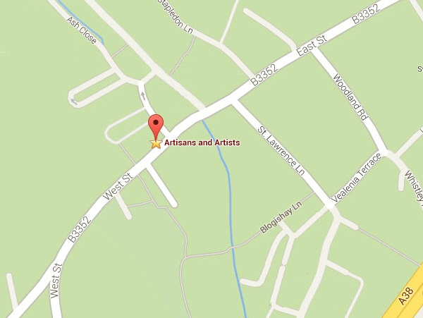 Location Map - Artisans and Artists | Interior Design Consultants | Ashburton Devon | London | Bath
