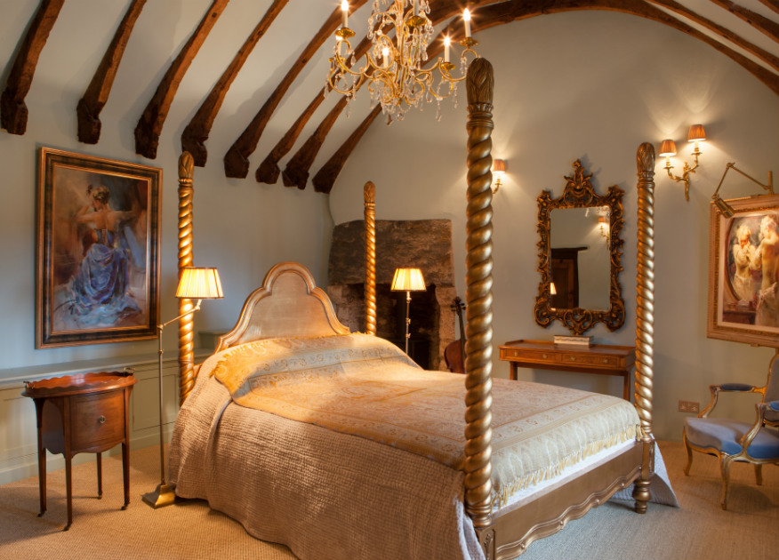 Medieval Manor House Master Bedroom by Artisans and Artists | International Interior Design Consultants | Ashburton | Devon | London | Bath | Mallorca | Devon Interior Design | Interior Design Devon