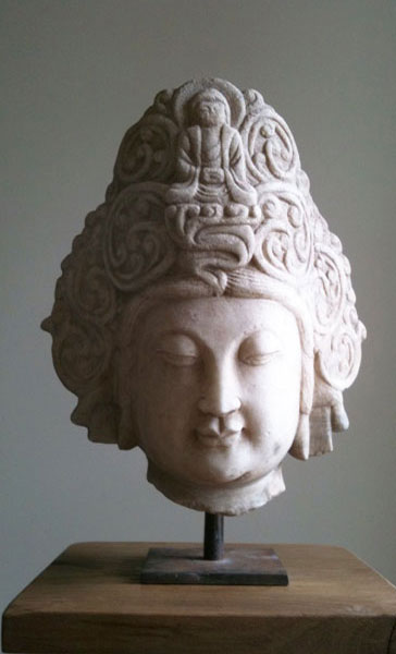 Guanyin Stone Head - Artisans and Artists | Interior Design Consultants | Ashburton Devon | London | Bath